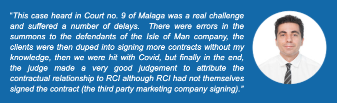 Spanish court decision opens floodgates for RCI members